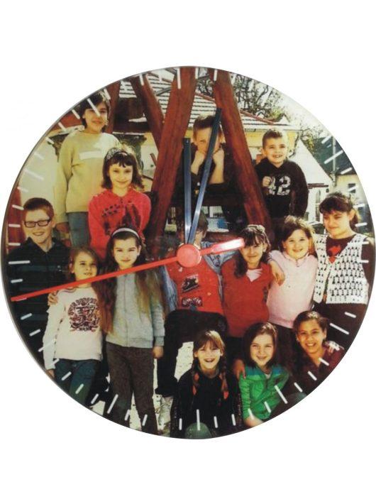 FÉNYKÉPES fali óra (20cm)