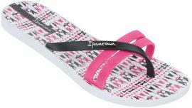 Ipanema Flip Print női papucs (fehér/pink/fekete)