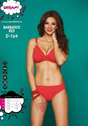 ORIGAMI bikini-Barbados Red